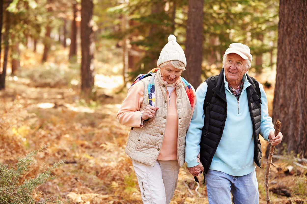 older couple with good health and life insurance